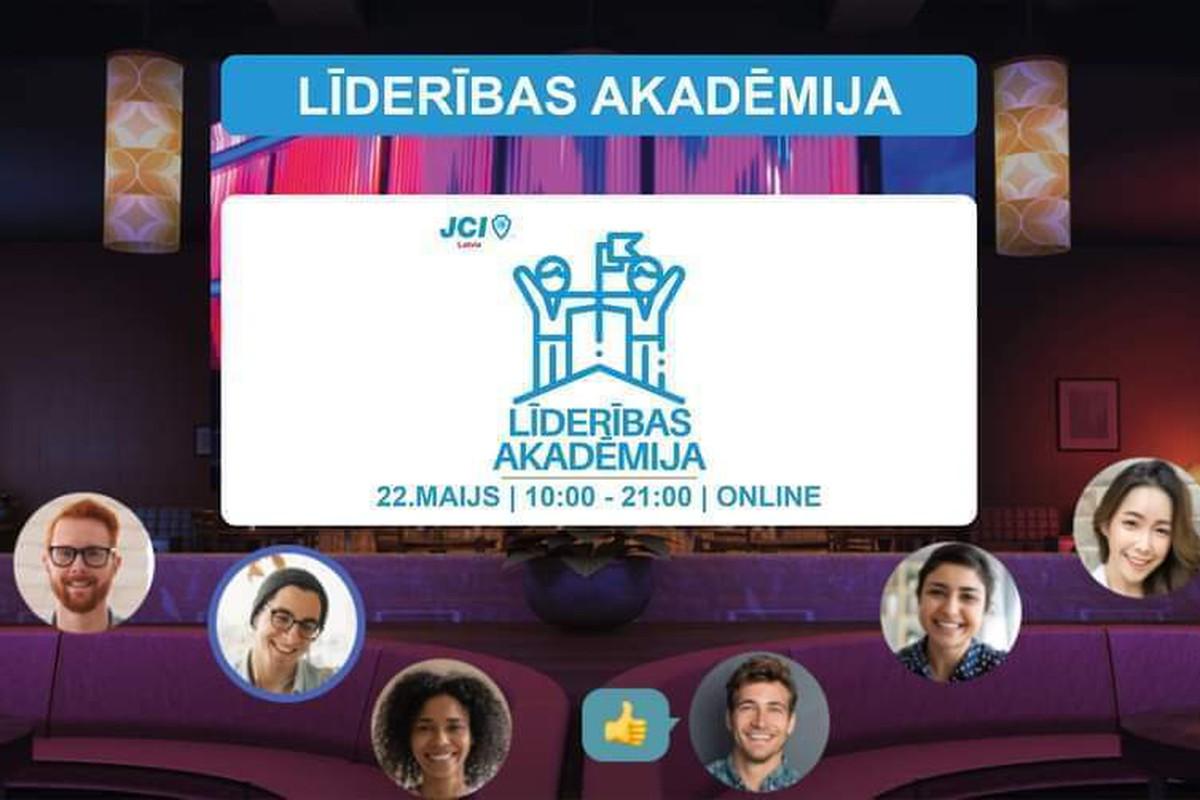 JCI Latvia Līderības Akadēmija 2021 tiešsaistē