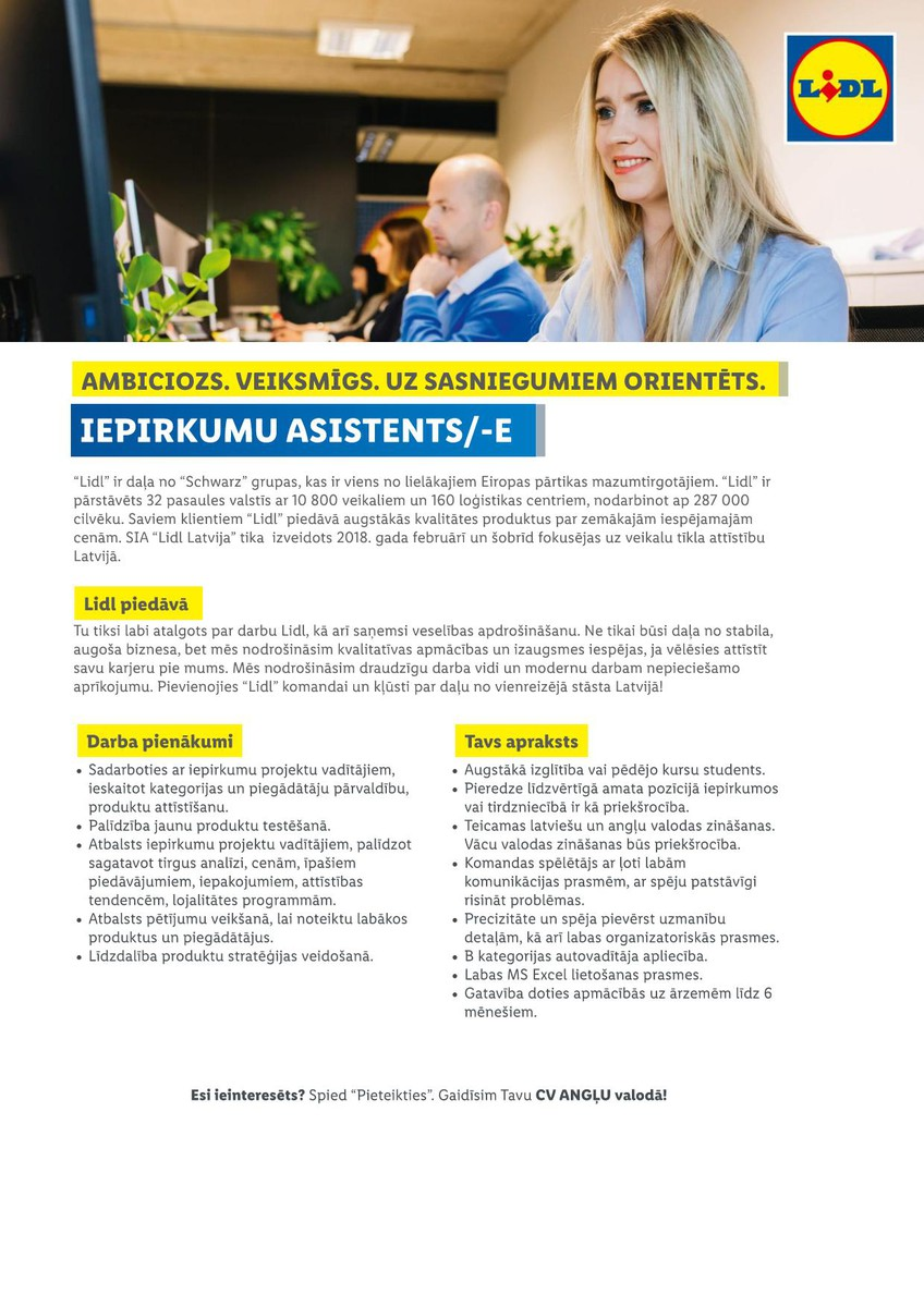 IEPIRKUMU ASISTENTS/-E