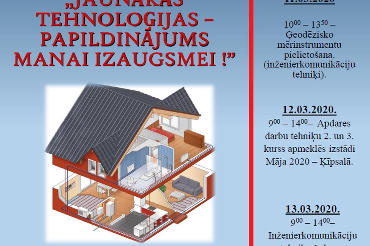 Apdares darbu un inženierkomunikāciju tehniķu profesijas nedēļa 2020